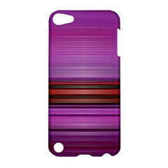 Stripes Line Red Purple Apple iPod Touch 5 Hardshell Case