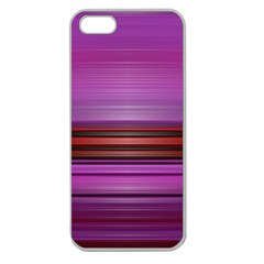 Stripes Line Red Purple Apple Seamless iPhone 5 Case (Clear)