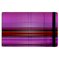 Stripes Line Red Purple Apple iPad 2 Flip Case