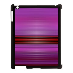 Stripes Line Red Purple Apple iPad 3/4 Case (Black)
