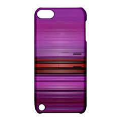 Stripes Line Red Purple Apple iPod Touch 5 Hardshell Case with Stand