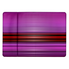 Stripes Line Red Purple Samsung Galaxy Tab 10.1  P7500 Flip Case
