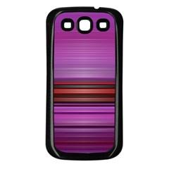 Stripes Line Red Purple Samsung Galaxy S3 Back Case (Black)