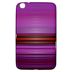 Stripes Line Red Purple Samsung Galaxy Tab 3 (8 ) T3100 Hardshell Case