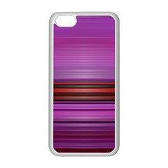Stripes Line Red Purple Apple iPhone 5C Seamless Case (White)