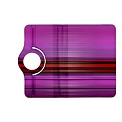 Stripes Line Red Purple Kindle Fire HD (2013) Flip 360 Case