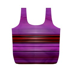 Stripes Line Red Purple Full Print Recycle Bags (M)