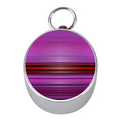 Stripes Line Red Purple Mini Silver Compasses
