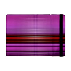 Stripes Line Red Purple iPad Mini 2 Flip Cases