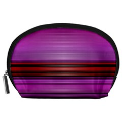 Stripes Line Red Purple Accessory Pouches (Large)