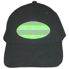Squares Triangel Green Yellow Blue Black Cap