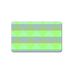 Squares Triangel Green Yellow Blue Magnet (Name Card)
