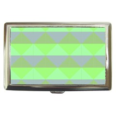 Squares Triangel Green Yellow Blue Cigarette Money Cases