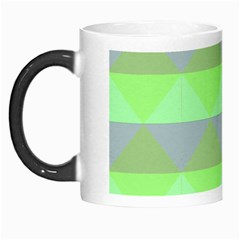 Squares Triangel Green Yellow Blue Morph Mugs