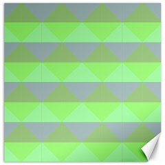 Squares Triangel Green Yellow Blue Canvas 16  x 16
