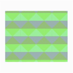 Squares Triangel Green Yellow Blue Small Glasses Cloth (2-Side)