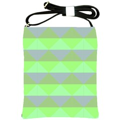 Squares Triangel Green Yellow Blue Shoulder Sling Bags