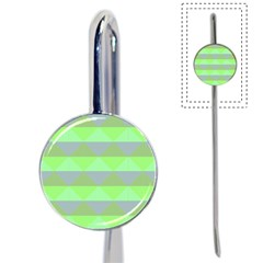 Squares Triangel Green Yellow Blue Book Mark