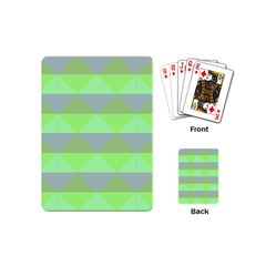 Squares Triangel Green Yellow Blue Playing Cards (Mini)