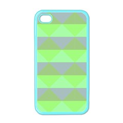 Squares Triangel Green Yellow Blue Apple iPhone 4 Case (Color)