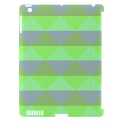 Squares Triangel Green Yellow Blue Apple iPad 3/4 Hardshell Case (Compatible with Smart Cover)