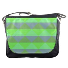Squares Triangel Green Yellow Blue Messenger Bags
