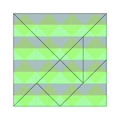 Squares Triangel Green Yellow Blue Acrylic Tangram Puzzle (6  x 6 )