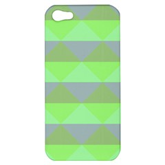 Squares Triangel Green Yellow Blue Apple iPhone 5 Hardshell Case