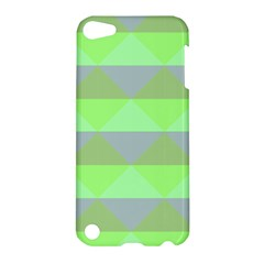 Squares Triangel Green Yellow Blue Apple iPod Touch 5 Hardshell Case