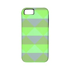 Squares Triangel Green Yellow Blue Apple iPhone 5 Classic Hardshell Case (PC+Silicone)