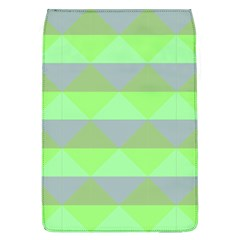Squares Triangel Green Yellow Blue Flap Covers (L)
