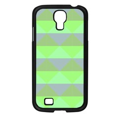 Squares Triangel Green Yellow Blue Samsung Galaxy S4 I9500/ I9505 Case (Black)