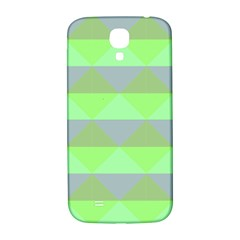 Squares Triangel Green Yellow Blue Samsung Galaxy S4 I9500/I9505  Hardshell Back Case