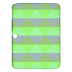 Squares Triangel Green Yellow Blue Samsung Galaxy Tab 3 (10.1 ) P5200 Hardshell Case