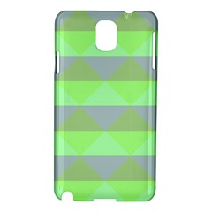 Squares Triangel Green Yellow Blue Samsung Galaxy Note 3 N9005 Hardshell Case