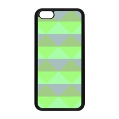 Squares Triangel Green Yellow Blue Apple Iphone 5c Seamless Case (black)