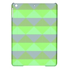 Squares Triangel Green Yellow Blue iPad Air Hardshell Cases