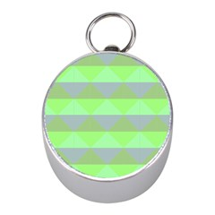 Squares Triangel Green Yellow Blue Mini Silver Compasses