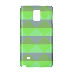Squares Triangel Green Yellow Blue Samsung Galaxy Note 4 Hardshell Case