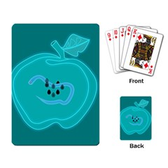 Xray Worms Fruit Apples Blue Playing Card