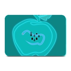 Xray Worms Fruit Apples Blue Plate Mats