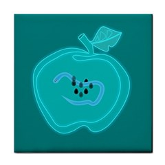 Xray Worms Fruit Apples Blue Face Towel