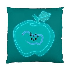 Xray Worms Fruit Apples Blue Standard Cushion Case (Two Sides)
