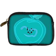 Xray Worms Fruit Apples Blue Digital Camera Cases