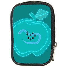 Xray Worms Fruit Apples Blue Compact Camera Cases