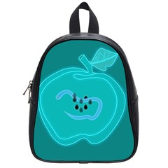 Xray Worms Fruit Apples Blue School Bags (Small)