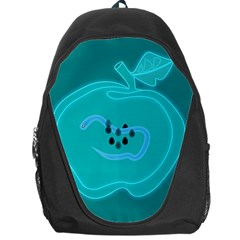 Xray Worms Fruit Apples Blue Backpack Bag