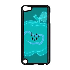 Xray Worms Fruit Apples Blue Apple iPod Touch 5 Case (Black)