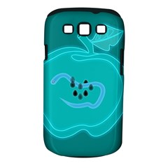 Xray Worms Fruit Apples Blue Samsung Galaxy S III Classic Hardshell Case (PC+Silicone)