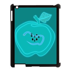 Xray Worms Fruit Apples Blue Apple iPad 3/4 Case (Black)